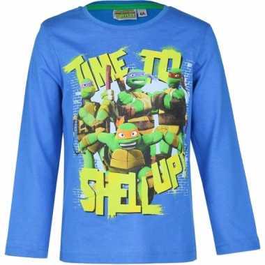 Ninja turtles t-shirt voor kinderen blauw