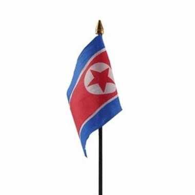 Noord korea vlaggetje polyester