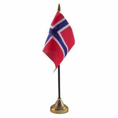 Noorwegen versiering tafelvlag 10 x 15 cm
