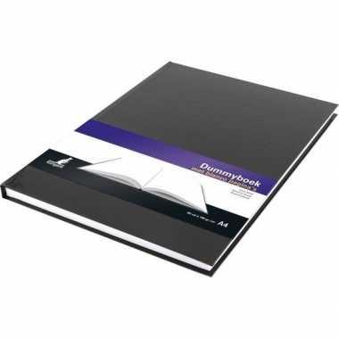 Notitieboek zwart met harde kaft en blanco papier a4 formaat