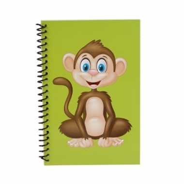 Notitieboekje aap groen 18cm