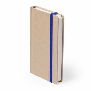 Notitieboekje blauw elastiek a6 formaat