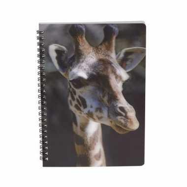 Notitieboekje giraffe 3d 21cm
