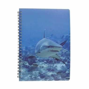 Notitieboekje haai 3d 21cm