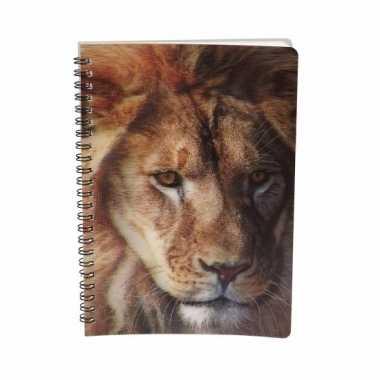 Notitieboekje leeuw 3d 21cm