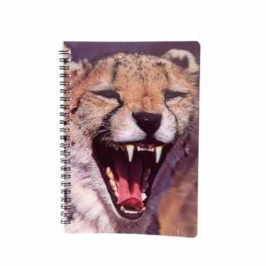 Notitieboekje luipaard 3d 21cm