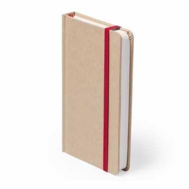 Notitieboekje rood elastiek a6 formaat