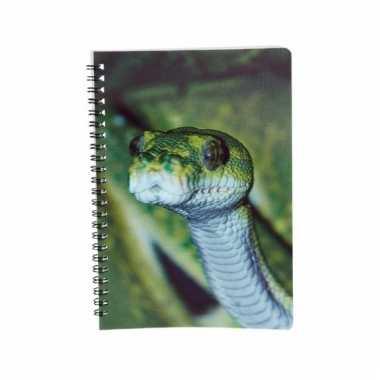 Notitieboekje slang 3d 21cm