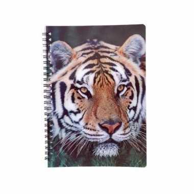 Notitieboekje tijger 3d 21cm
