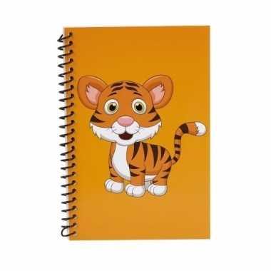 Notitieboekje tijger oranje 18cm