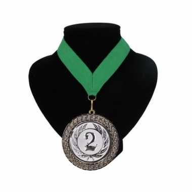 Nummer 2 kampioensmedaille groen