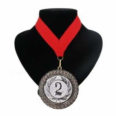 Nummer 2 kampioensmedaille rood