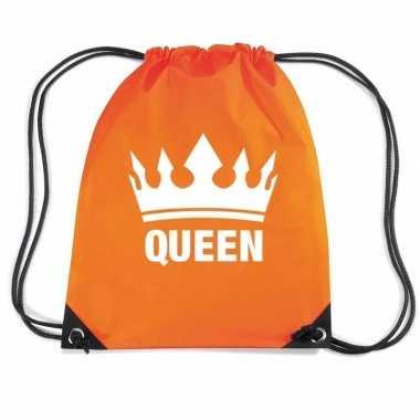 Nylon rugzak queen oranje