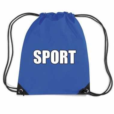 Nylon sport gymtasje blauw jongens en meisjes