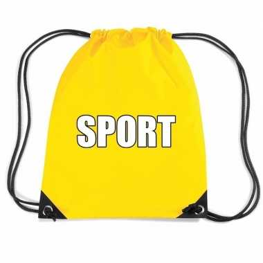 Nylon sport gymtasje geel jongens en meisjes