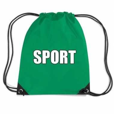Nylon sport gymtasje groen jongens en meisjes