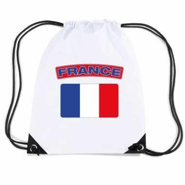 Nylon sporttas franse vlag wit