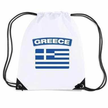 Nylon sporttas griekse vlag wit