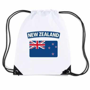 Nylon sporttas nieuw zeelandse vlag wit