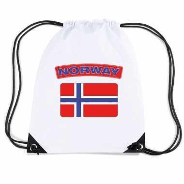 Nylon sporttas noorweegse vlag wit