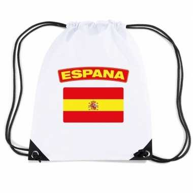 Nylon sporttas spaanse vlag wit