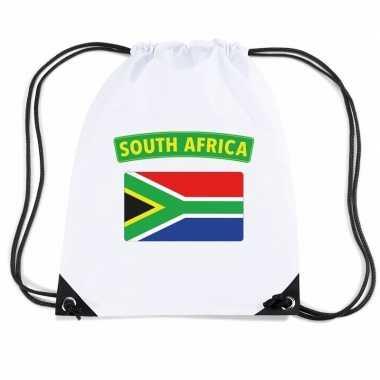 Nylon sporttas zuid afrikaanse vlag wit