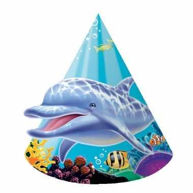 Oceaan thema feesthoeden 8 stuks