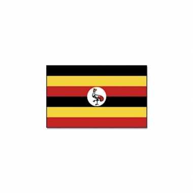 Oegandese vlag 90x150 cm