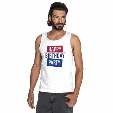 Officieel toppers happy birthday party singlet/ mouwloos shirt wit he