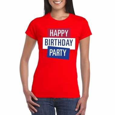 Officieel toppers in concert happy birthday party 2019 t-shirt rood d