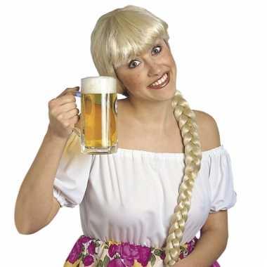 Oktoberfest blonde damespruiken helga