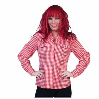 Oktoberfest blouse rood met wit