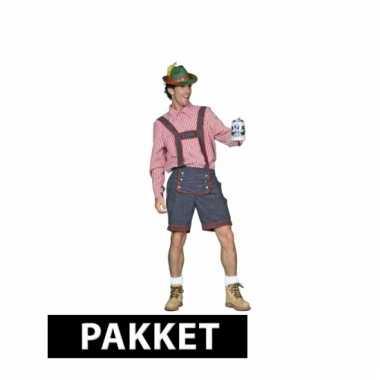 Oktoberfest kleding pakket maat l voor heren maat l