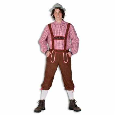 Oktoberfest lange bruine lederhose