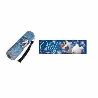 Olaf led zaklamp blauw