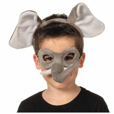 Olifant oogmasker met diadeem voor kids