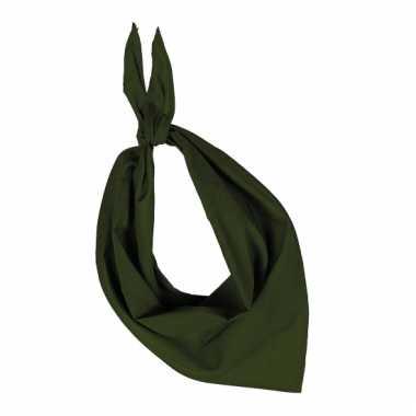 Olijf hals zakdoeken bandana style