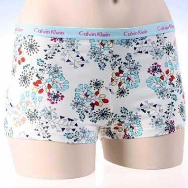 Ondergoed ck dames shorty bloemen print