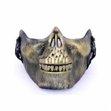 Onderkaak gouden schedel plastic masker