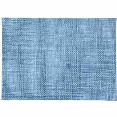 Onderlegger blauw gevlochten 45 x 30 cm
