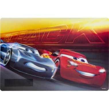 Onderlegger cars rood/geel 42 x 28 cm