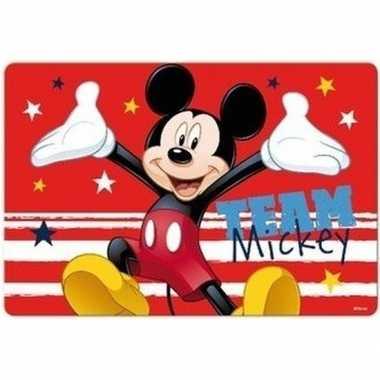 Onderlegger mickey mouse rood 42 x 28 cm