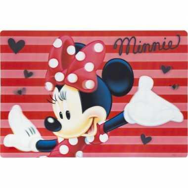 Onderlegger minnie mouse rood 42 x 28 cm
