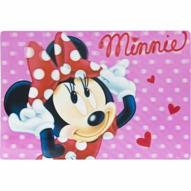 Onderlegger minnie mouse roze 42 x 28 cm