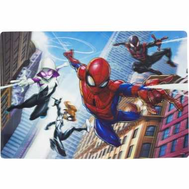 Onderlegger spiderman en friends 42 x 28 cm