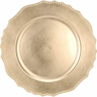 Onderzet bord goud 33cm deluxe