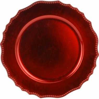 Onderzet bord rood 33cm deluxe
