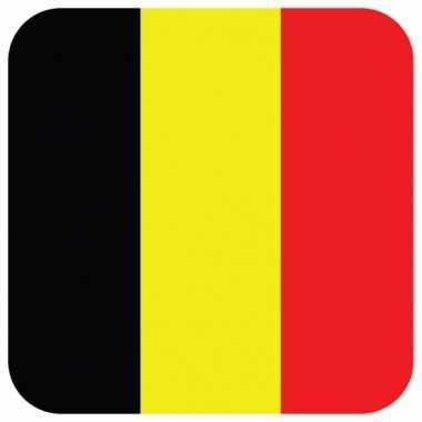 Onderzetters voor glazen met belgische kleuren 15 st