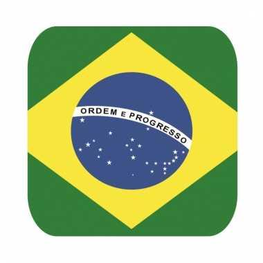 Onderzetters voor glazen met braziliaanse kleuren 15 st