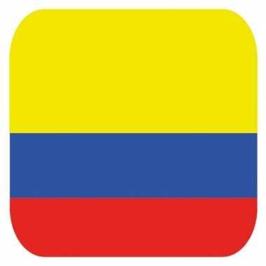 Onderzetters voor glazen met colombiaanse kleuren 15 st